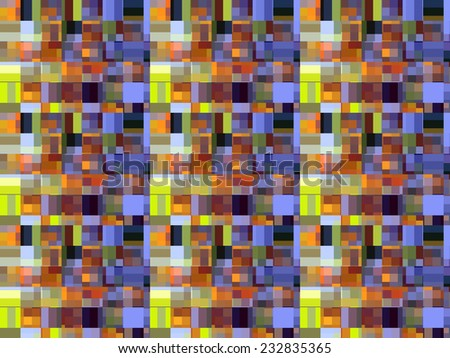 Tiled multicolored mosaic for themes of complexity and multiplicity #232835365
