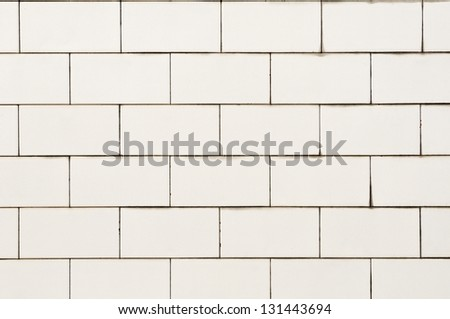 tiled wall texture background in white