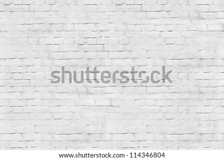 Tiled white brick wall