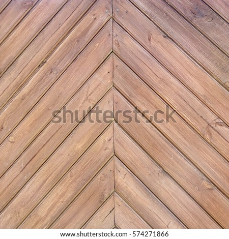 Tiled Wooden Wall Planking Frame Texture Old Rustic Wood Slats Shabby Square Background With Diagonal