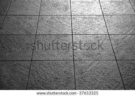 Tiles in black and white