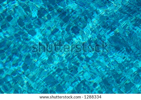 Tiles underwater in a swimming pool