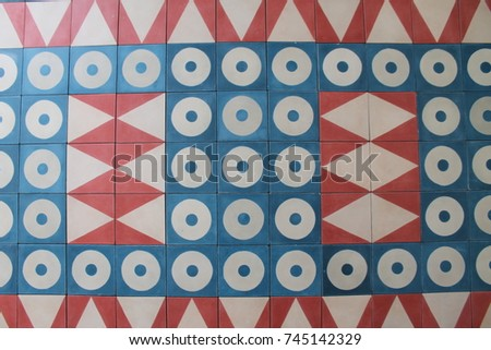 Tiles with geometrical drawings #745142329