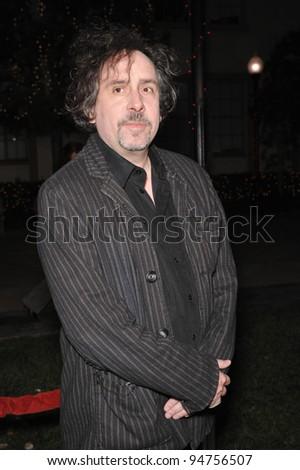 Tim Burton at industry screening of his movie \