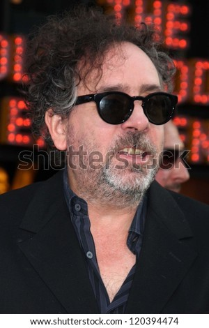 "Tim Burton at the ""Frankenweenie"" Los Angeles Premiere, El Capitan Theater, Hollywood, CA 09-24-12"