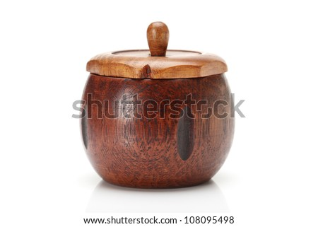 Timber container with aromatic huon pine chips, carved from a piece of timber