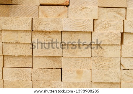 Timber department in Home center