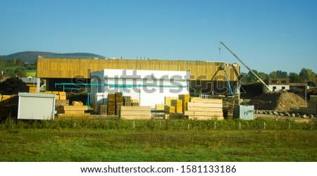 timber depot, sawn timber, plank