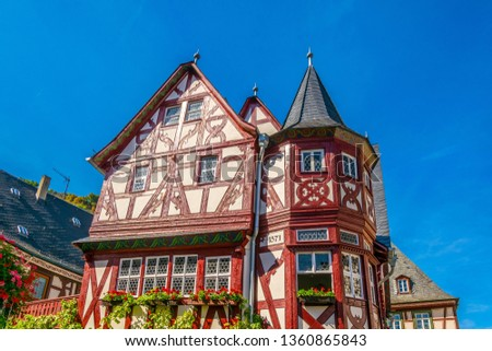 Timber facades in Bacharach, Germany #1360865843