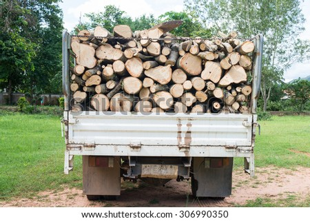 timber on timber truck