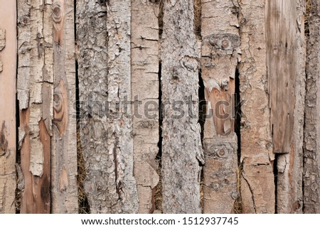Timber wall made of planks, barn farm wall