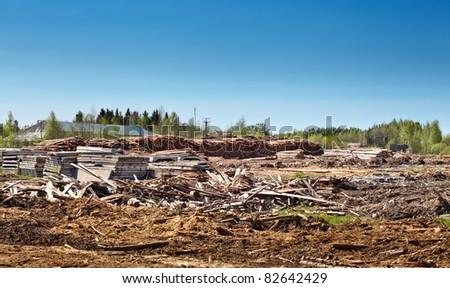 Timber Warehouse - stock photo