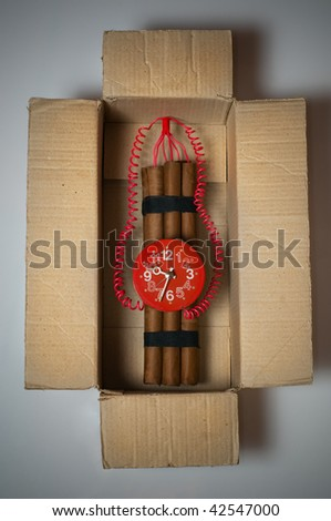 time bomb in box