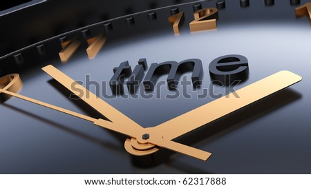 Time concept, abstract dark clock