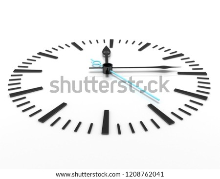 time concept clock closeup 3d.3d illustration