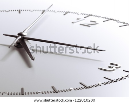 Time concept. isolated on a white background