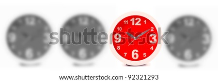 Time concept isolated on white