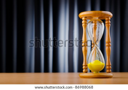 Time concept with hour glass