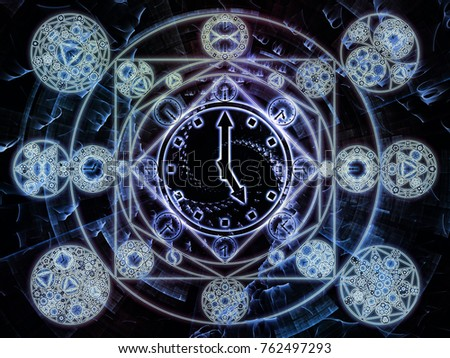 Time Connection Series Design Made Of Time And Fractal Geometry