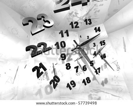 Time. 3-d illustration.