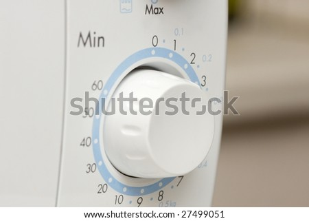 Time dial of a microwave oven