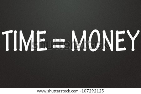 time equal money symbol