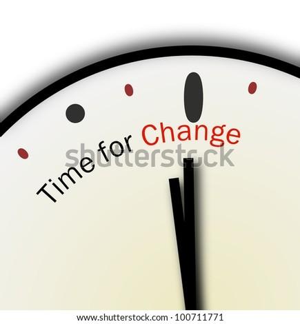Time for Change Clock Inspirational or Motivational POV