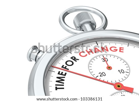 Time for change. Stopwatch edition. - stock photo