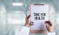 TIME FOR HEALTH  Fresh healthy medicine, health and hospital