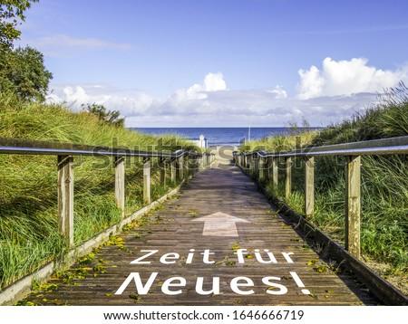 Time for New Baltic Bridge in german Stockfoto ©