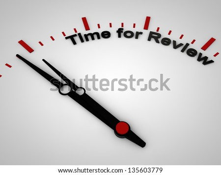 Time for review on a clock, one minute before twelve