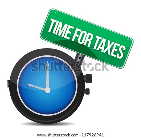 time for taxes illustration design over white