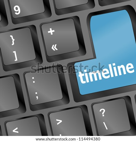 time ine concept - word on keyboard. raster