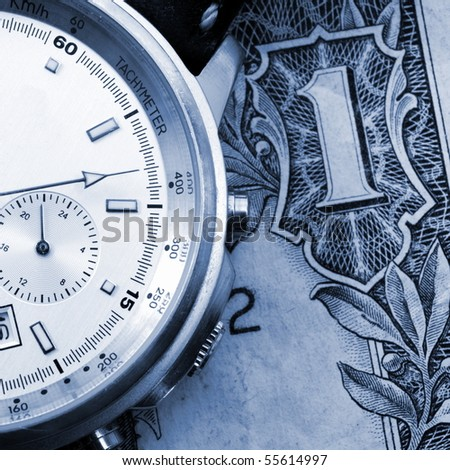time is business money concept with watch