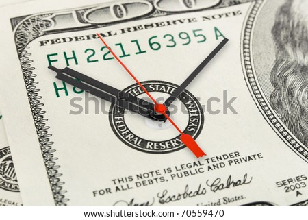 Time is money - business concept background