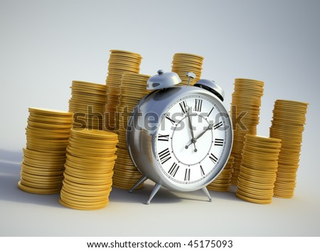 Time is money concept image