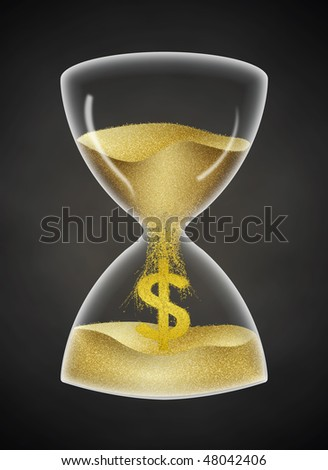 Time is Money. Said clock with euro currency sign and more background