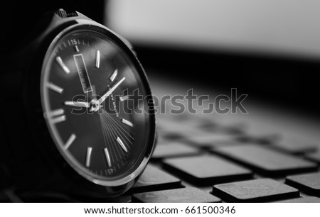 time is moving, watch is ticking, long exposure on keyboard #661500346