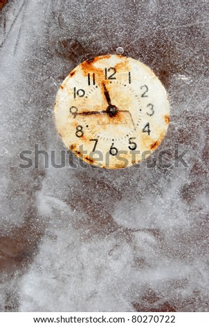 time is short - time symbol in ice