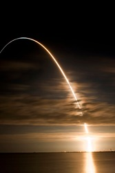 Time lapse of NASA Space Shuttle launch - Final night launch of US Shuttle Program