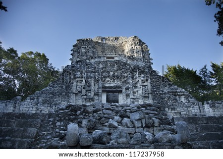 time-lapse of the mayan ruins at xpujil, mexico. the mayans believe that transformative events will occur on 21 december 2012