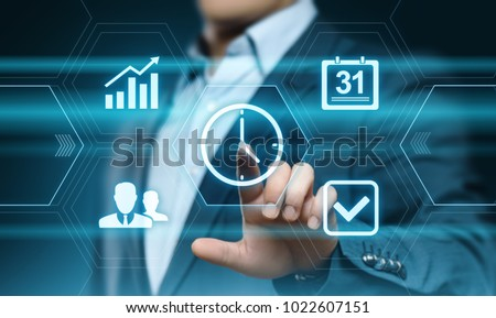 time management project efficiency strategy goals business technology internet concept. #1022607151