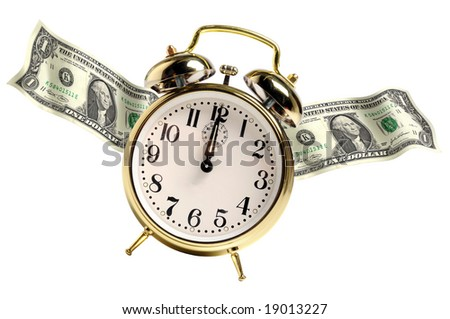 Time metaphor representing time is money