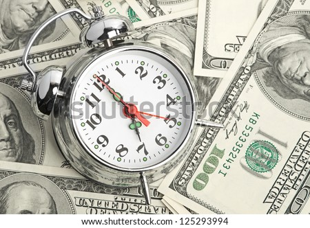 Time - money. Business concept - stock photo