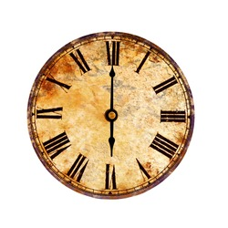 time on vintage clock
