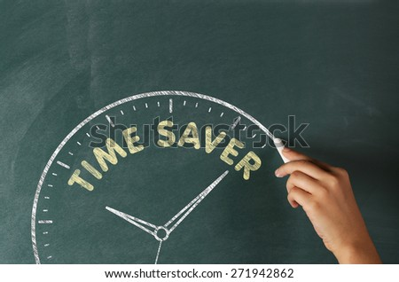 Time Saver Concept on a Blackboard #271942862