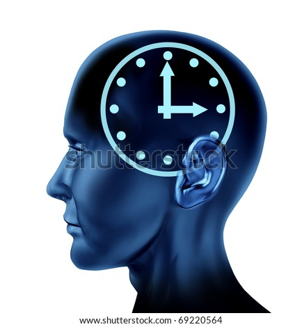 time schedule appointment late clock Brain head mind idea intelligence isolated