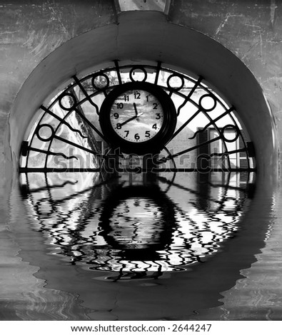 Time Series - Illustrations depicting various conceptual images portraying clocks and time