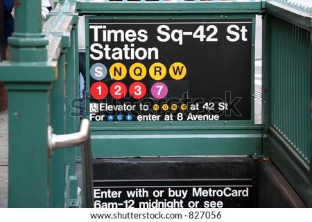 Time Square Subway Stock fotó ©