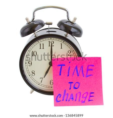 time to change sticker on alarm clock
